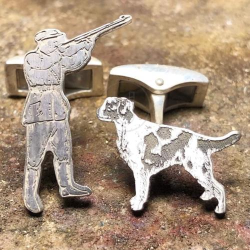 cazador y perro