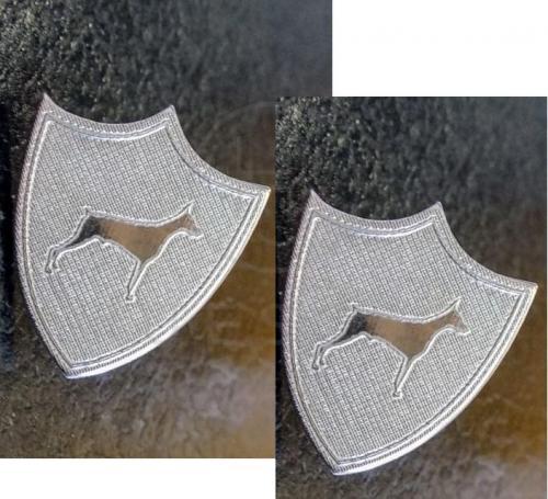 gemelos de escudos plata