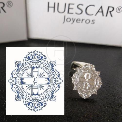 gemelos de plata escudo cofradías