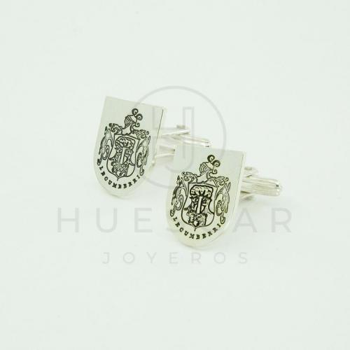 gemelos de plata escudo de armas