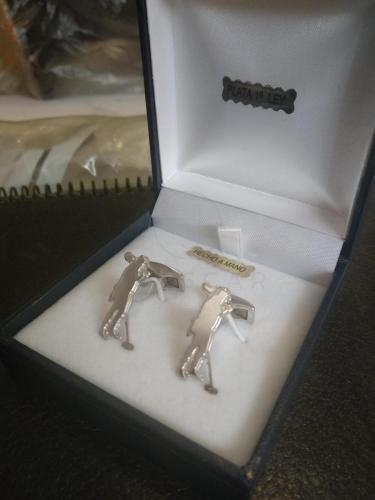 gemelos de plata hechos a mano