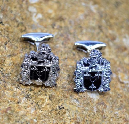 gemelos escudos de armas para bodas