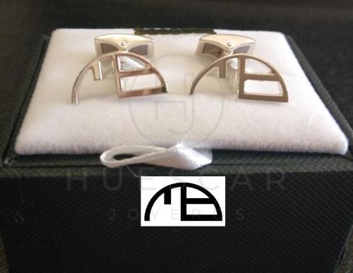 gemelos hierro ganadero plata