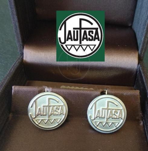gemelos logo empresa plata en relieve
